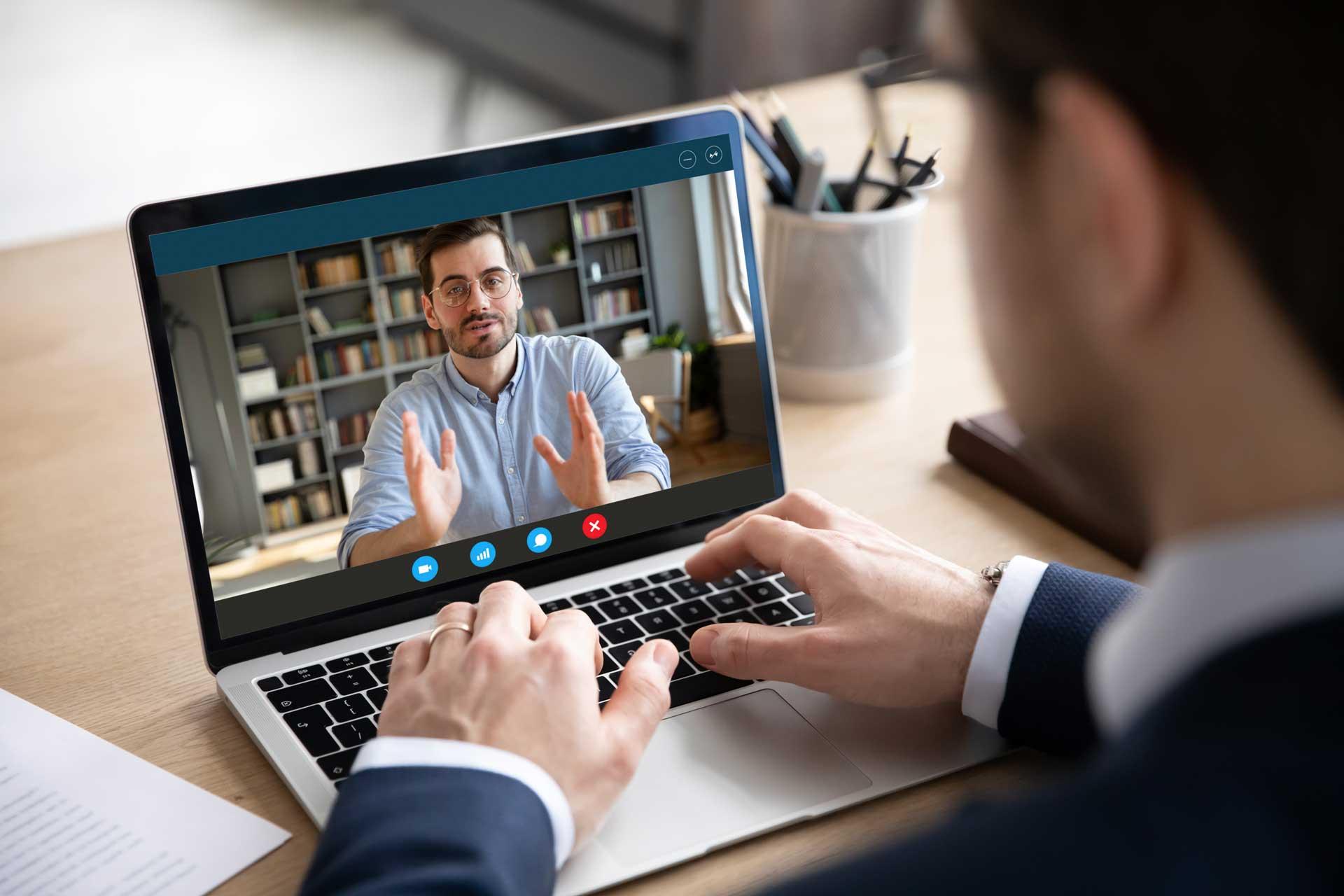 Videocall mit Kunden